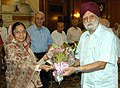 Ashirwad senior Citizen Council members called on the President, Smt. Pratibha Devisingh Patil, in New Delhi on October 01, 2007.jpg
