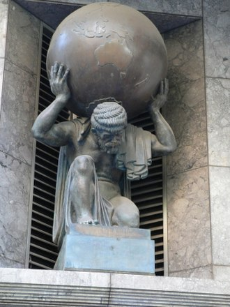 Atlas (mythology) - Image: Atlas sculpture on collins street melbourne