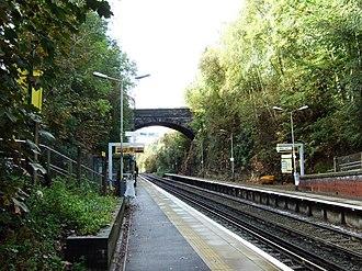 Aughton, Lancashire - Image: Aughton Park railway station