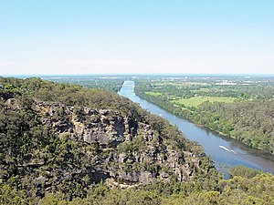 Geography of Sydney - View of Nepean River from just south of Penrith.