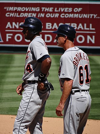 Tom Brookens - Austin Jackson and Brookens, 2012