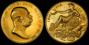 Austro-Hungarian krone - Image: Austria 1908 100 Kronen