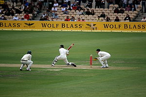 New Zealand cricket team in Australia in 2008–09 - Image: Ausvsnz adelaide 08 redmond 6 p 1