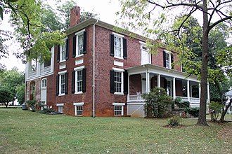 National Register of Historic Places listings in Bedford County, Virginia - Image: Avenel Side & Rear