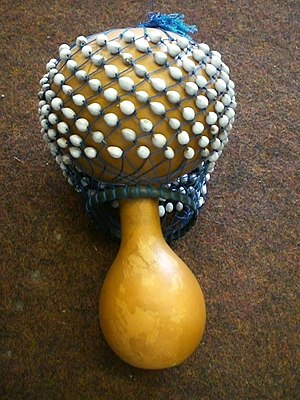 an Axatse (rattle from Ghana)