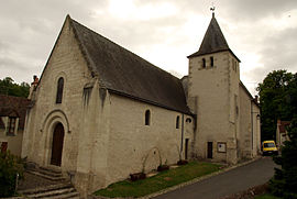 The church in Azay-sur-Indre