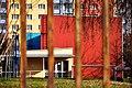 Bývalá základní škola Jahodová 2800 v nových barvách. Dnes VOŠSP. - panoramio.jpg