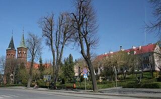 Błażowa Place in Subcarpathian Voivodeship, Poland