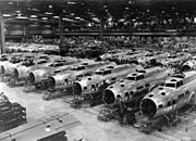 B-17Es at Boeing Plant, Seattle, Washington, 1943