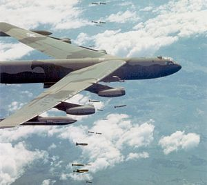 346th Test Squadron - Image: B 52D dropping bombs over Vietnam