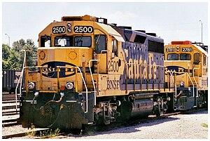 EMD GP35 - Image: BNSF 2500 EMD GP35