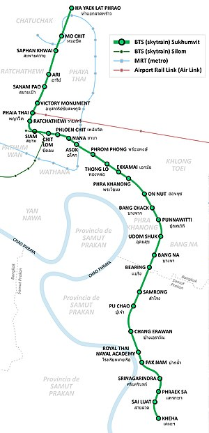 Map bangkok pdf train