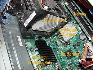 BTX (form factor) - BTX form factor motherboard inside a Dell Dimension E520