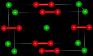 Barium peroxide - Image: Ba O2structure