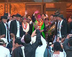 English: Mr. Baburam bhattarai the 35th Prime ...