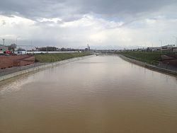 Badam river in Shymkent.jpg