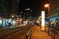 Bahnhof Friedrichstraße vom Süden nacht.JPG