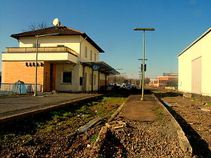 Ebern's former train station
