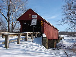The Bailey Covered Bridge, a historic site in the township