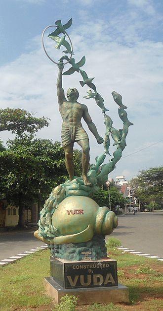 Statue - Balance of Nature statue near VUDA Park, Visakhapatnam