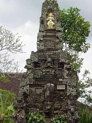 Bhoma - In the Padmasana, the central shrine of a Balinese temple complex, the Bhoma head is carved at the bottom of Padmasana shrine to symbolize the forest which surrounds the base of a mountain.