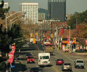 Bank Street (Ottawa) - Heading North through The Glebe