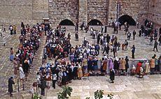 Bar mitzvah celebration at the Wall