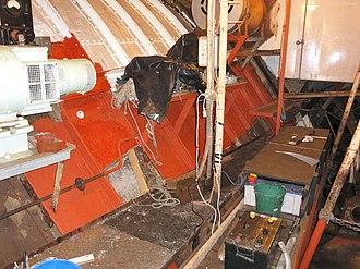 MV Baragoola - Image: Baragoola Internal Battery Compartment