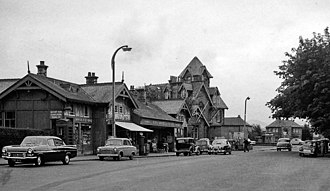Barnton, Edinburgh - Until 1951 there was a station (seen here in 1962) originally opened by the Caledonian Railway