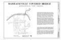 Barrackville Covered Bridge, Title Sheet - Barrackville Covered Bridge, Spanning Buffalo Creek on Pike Street , Barrackville, Marion County, WV HAER WVA,25-BARAC,1- (sheet 1 of 3).png