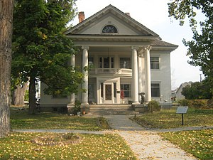 National Register of Historic Places listings in Ravalli County, Montana - Image: Bass mansion front