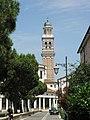 Beata Vergine del Soccorso, campanile, vista da piazza XX Settembre (Rovigo).jpg