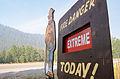 Beaver Creek Fire 2013 fire danger sign 1.jpg