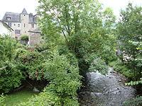 Bedous (Pyr-Atl, Fr) Gave d'Aydius et château.JPG