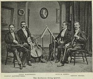 Gustav Dannreuther - Dannreuther String Quartet as of 1891