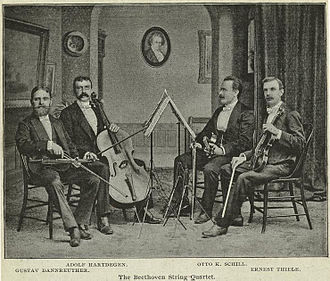 Gustav Dannreuther - Dannreuther String Quartet as of 1891