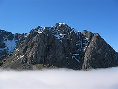 The Carn Dearg Buttress in early April.