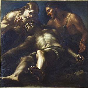 Giovanni Battista Benaschi - The Deploration of Abel, Real Academia de Bellas Artes de San Fernando (Madrid).