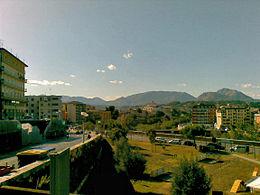 Panorama di Benevento, con la Dormiente del Sannio sullo sfondo