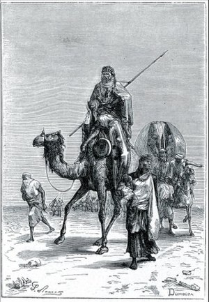 Benjamin of Tudela - Benjamin of Tudela in the Sahara (Author : Dumouza, 19th-century engraving)