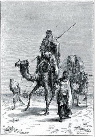 Benjamin of Tudela - Benjamin of Tudela in the Sahara (Author : Dumouza, 19th-century engraving)