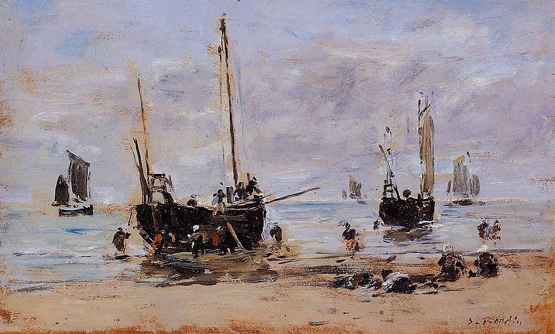 File:Berck Fishemen at Low Tide Eugène Louis Boudin.jpeg