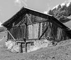 Bergtocht van Peio Paese naar Lago Covel (1,839 m) in het Nationaal park Stelvio (Italië). Oude boerenschuur 12.jpg