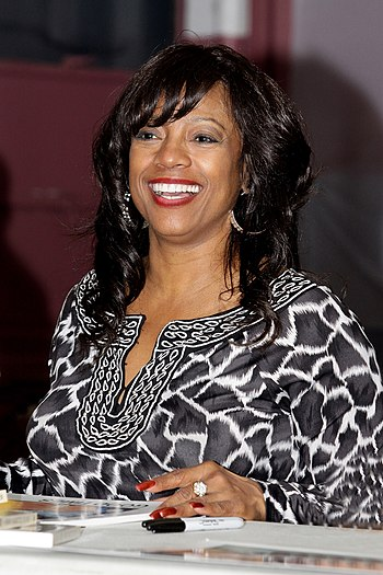 English: BernNadette Stanis speaks to Cabrini ...