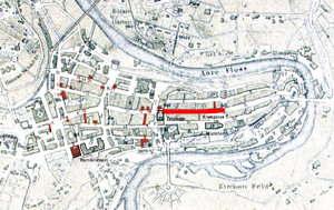 Kramgasse - Old City of Bern with Kramgasse highlighted