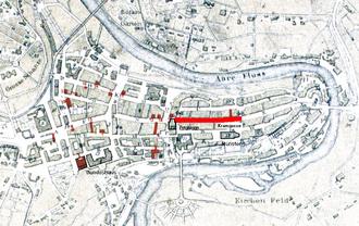 Kramgasse - Old City of Bern with Kramgasse highlighted
