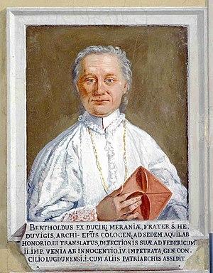 Berthold (patriarch of Aquileia) - Image: Bertoldo di Merania Patriarcato Udine