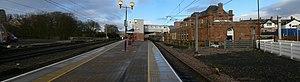 Berwick-upon-Tweed railway station - Panoramic view of Berwick-upon-Tweed railway station