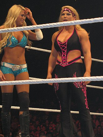 Feud (professional wrestling) - Kelly Kelly (left) and Beth Phoenix had a feud in 2011.