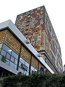 Biblioteca Central UNAM muro oriente